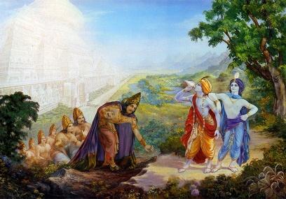 Krsna and Balarama summon Yamarāja