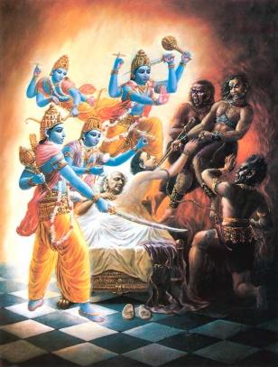 Ajamila, Yamadutas and Visnudutas