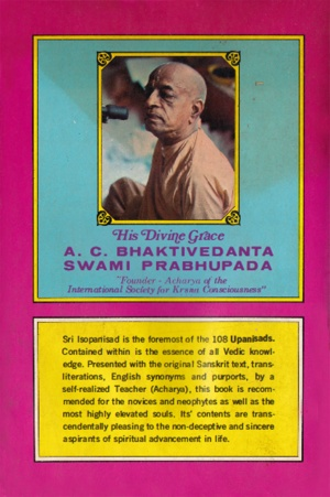 Sri Isopanisad cover