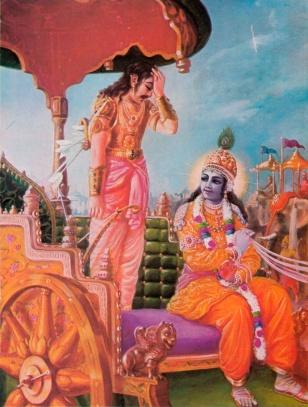 Krsna and Arjuna